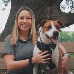 Laura-Acton-Headshot-With-Dog-Texas-Humane-Heroes